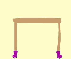 Table leg gloves