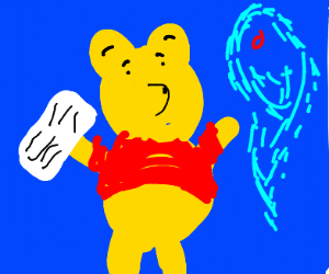 Ghost can't read Winnie the Pooh's flashcards