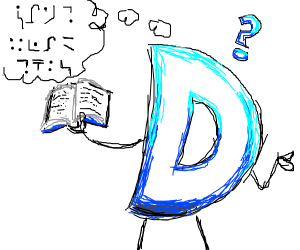 Drawception D doesn't know how to read.