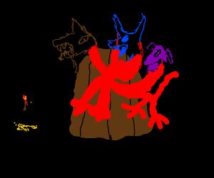 Kerberos the three headed dog
