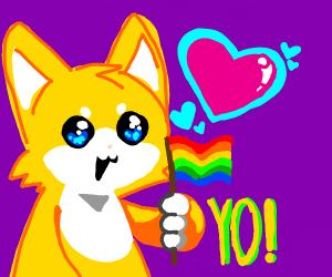a RAD gay cat