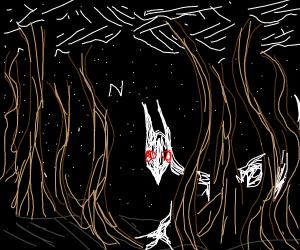 ghosty boi in trees