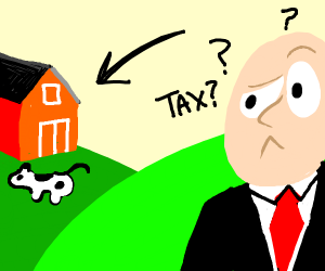 Man confuses farm for a tax