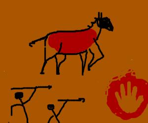 Prehistoric cave art
