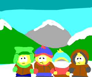 Cartman is invisible...his clothes are not