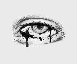eye with blotch