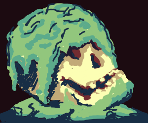 skull that is green