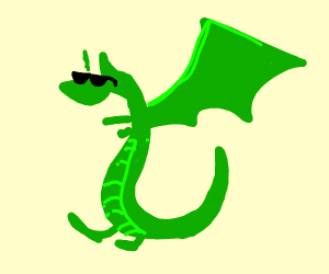 Dragon wearing sunglasses