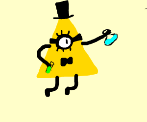 bill cipher does science!