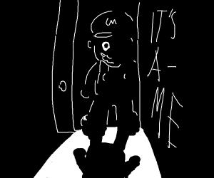 """Mario opens the door """"It's a-me"""""""