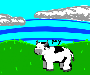 """The Cow says """"Yay"""""""