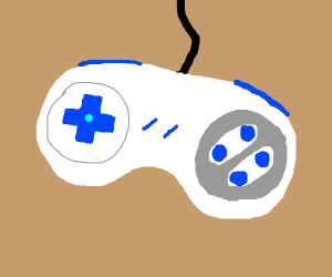 SNES Controller with blue buttons
