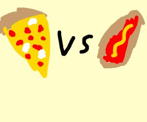 Pizza vs hotdog