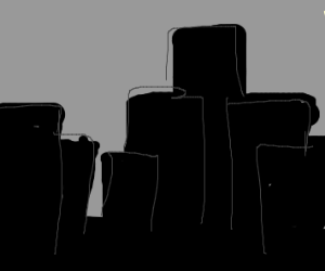 silhouette of city skyline
