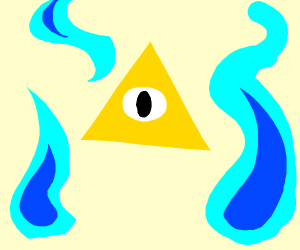Bill Cipher with his blue flames