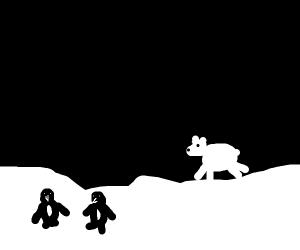 Antartica at night?