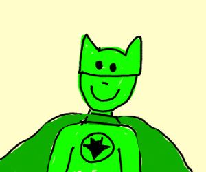 smiling green skinned batman