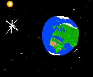 star hug earth