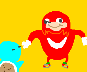 squirtle doesn't know the wae