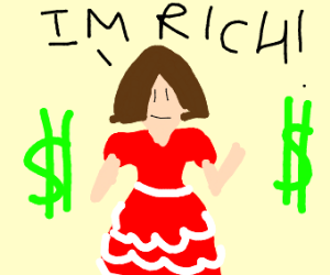 Rich girl in dress