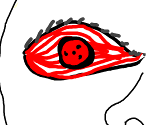red eye, sharingan maybe