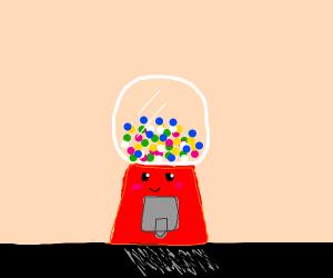Happy gum ball machine