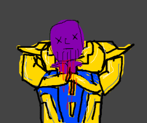 (Spoilers for Endgame) Thanos Decapitated - Drawception