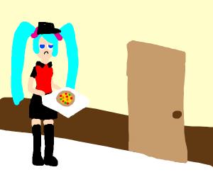 Hatsune Miku Delivers a Pizza