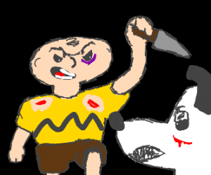 charlie brown vs snoopy, EPIC battle