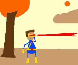 dood fires his lazors