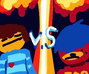frisk vs emo bear(?)