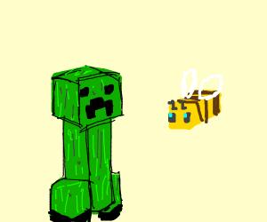 Creeper and bee