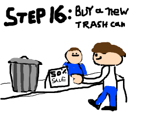 Step 15: Host a funeral for your trash can