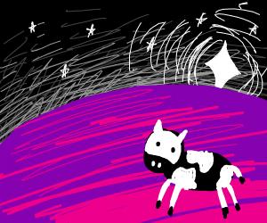 Cow on an alien planet