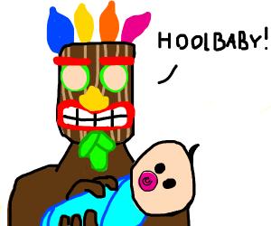 Aku Aku has a baby (But why though)