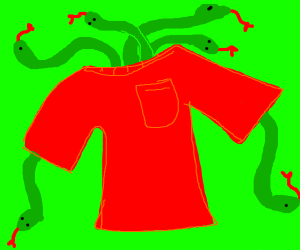 Six snakes in a t-shirt
