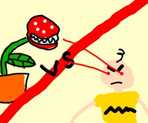 pirhana plant vs angry charlie brown