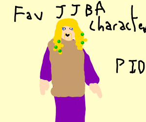 Favorite JJBA character PIO