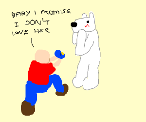 Man proposes to polarbear he was cheatng with