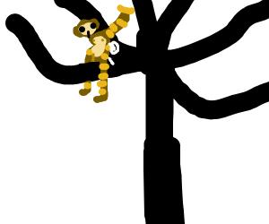 A bee-monkey in a tree
