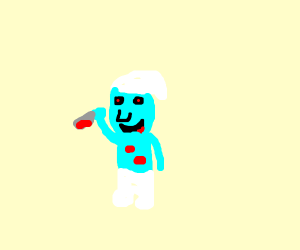 Scary Smurf