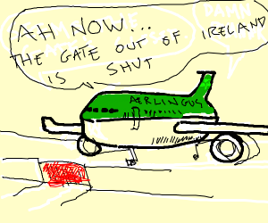 Aer lingus plane at the gate.