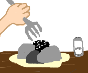 Eating rocks with a fork