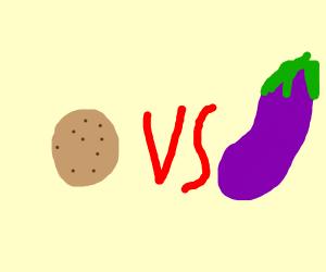 Cookie vs eggplant