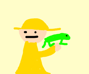 Some Discovery Channel guy holding a lizard