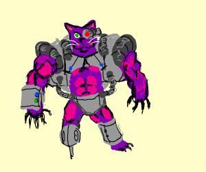 Muscular Robot Cat