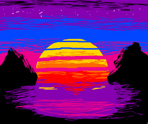 Reto 80s Sunset