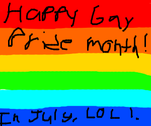 happy GAY PRIDE MONTH