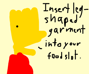 Verbose version of eat pant bart