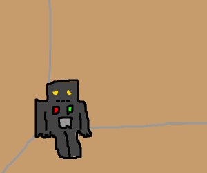 Sad robot in corner